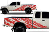 Toyota Tacoma TRD Truck Vinyl Decal Graphics Custom Red Design