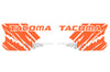 Toyota Tacoma TRD Truck Vinyl Decal Graphics Custom Orange Design