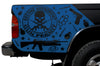 Toyota Tacoma TRD Truck Vinyl Decal Graphics Custom Blue Skull Design