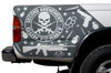 Toyota Tacoma TRD Truck Vinyl Decal Graphics Custom Gray Skull Design