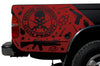 Toyota Tacoma TRD Truck Vinyl Decal Graphics Custom Red Skull Design