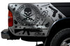 Toyota Tacoma TRD Truck Vinyl Decal Graphics Custom Silver Skull Design