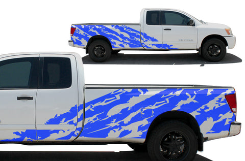 Fits Nissan Titan 2004-2013 Custom Full Body Decal Wrap Kit - SHRED