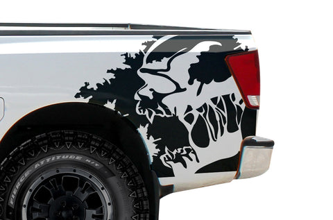 Fits Nissan Titan 2004-2013 Custom Rear Decal Wrap Kit - SCREAM