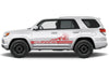Toyota 4Runner 4 Runner TRD Truck Vinyl Decal Graphics Custom Red Stripe Design