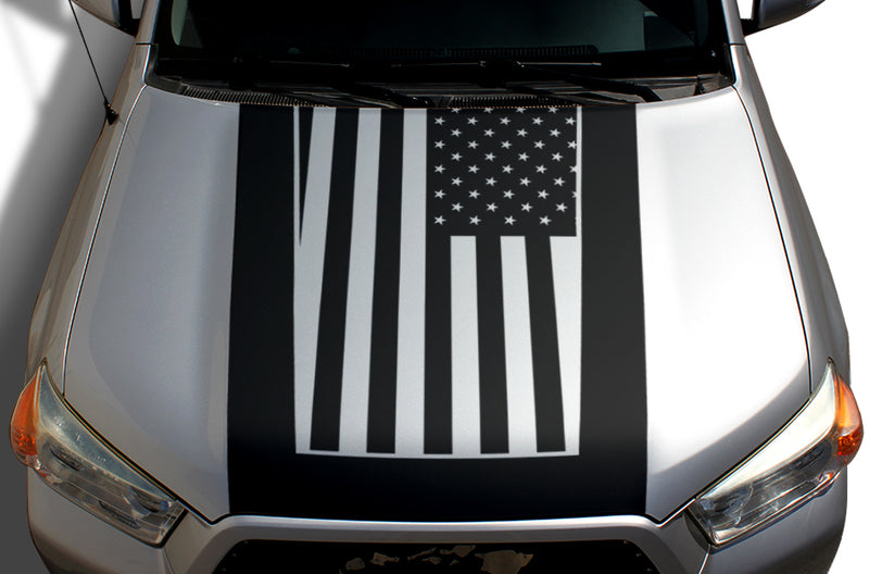 Toyota 4Runner 4 Runner TRD Truck Vinyl Decal Graphics Custom Black Hood American Flag Design