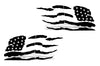 Toyota 4Runner 4 Runner TRD Truck Vinyl Decal Graphics Custom Black American Flag Design