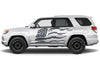 Toyota 4Runner 4 Runner TRD Truck Vinyl Decal Graphics Custom Gray American Flag Design