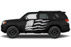 Toyota 4Runner 4 Runner TRD Truck Vinyl Decal Graphics Custom White American Flag Design