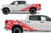 Toyota Tundra TRD Truck Vinyl Decal Graphics Custom Red Design