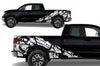 Toyota Tundra TRD Truck Vinyl Decal Graphics Custom White Skull Design