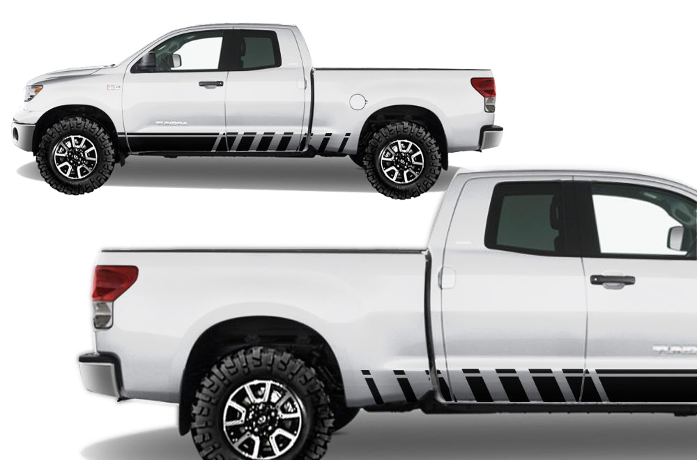 Toyota Tundra (2007-2013) Custom Vinyl Decal Wrap Kit - STROBE ROCKER -