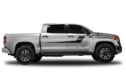 Toyota Tundra (2014-2016) Custom Side Stripes Decal Wrap Kit - CREW CAB
