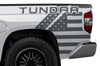 Toyota Tundra TRD Truck Vinyl Decal Graphics Custom Gray American Flag Design