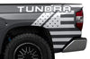 Toyota Tundra TRD Truck Vinyl Decal Graphics Custom White American Flag Design