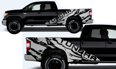 Toyota Tundra TRD Truck Vinyl Decal Graphics Custom Silver Design