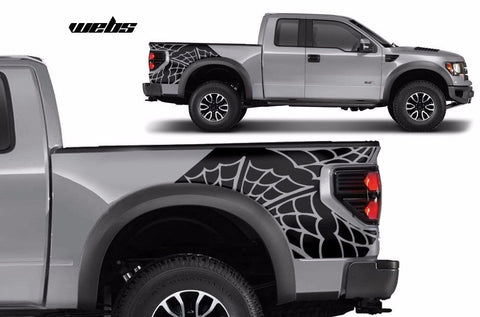 Ford F-150 SVT Raptor (2010-2014) Custom Vinyl Decal Wrap Kit - Rear WEBS