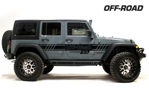 Jeep Wrangler (2007-2016) Custom Vinyl Decal Wrap Kit - OFF ROAD