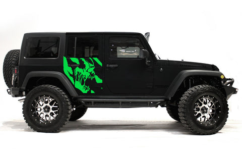 Jeep Wrangler (2007-2016) Custom Vinyl Decal Wrap Kit - SCREAM