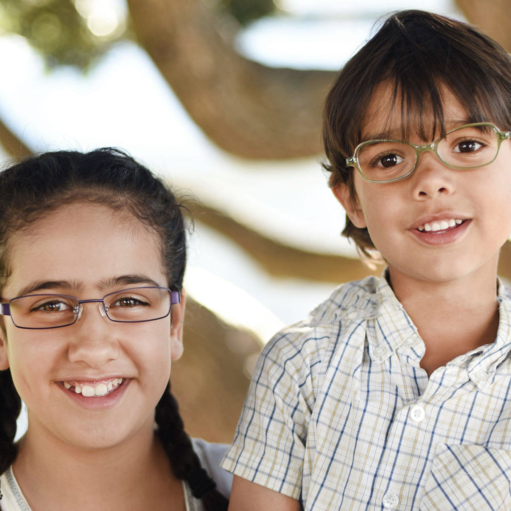 Children wearing glasses by Mr Foureyes | Mr Foureyes children's glasses collection online