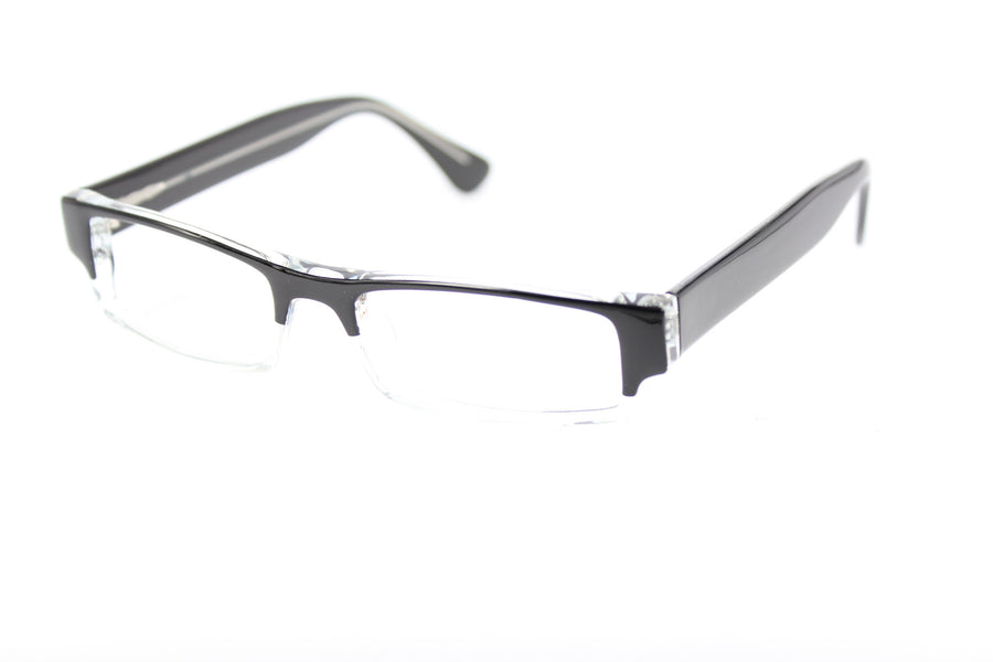 Van glasses frames in black/clear | Mr Foureyes prescription glasses online