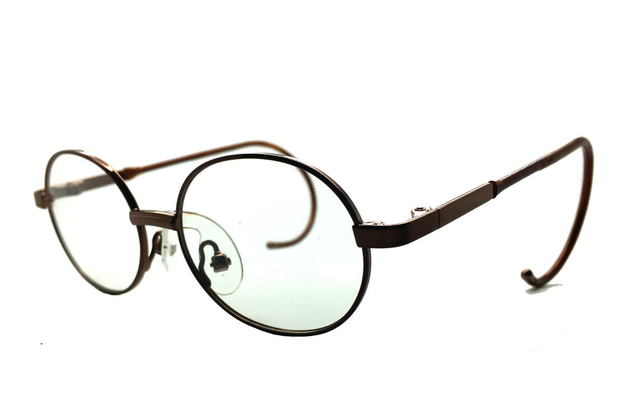 Alex children's glasses frames by Mr Foureyes in bronze, angle shot