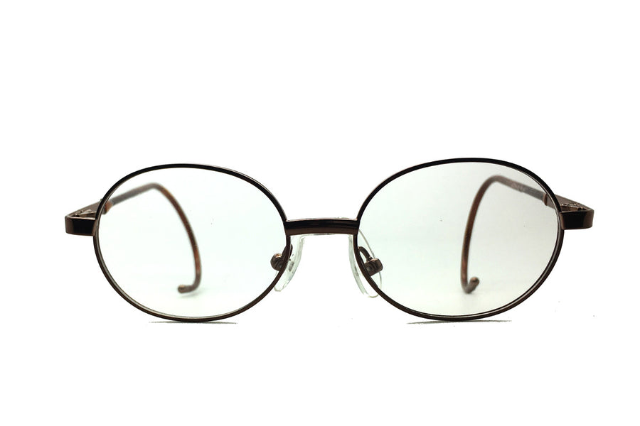 Alex children's glasses frames by Mr Foureyes in bronze, front shot