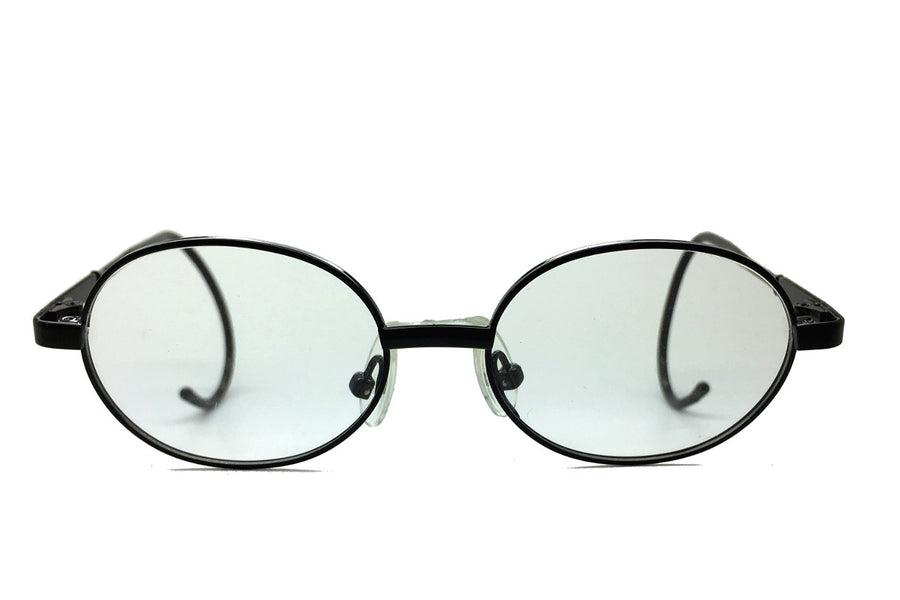 Alex children's glasses frames by Mr Foureyes in black, front shot
