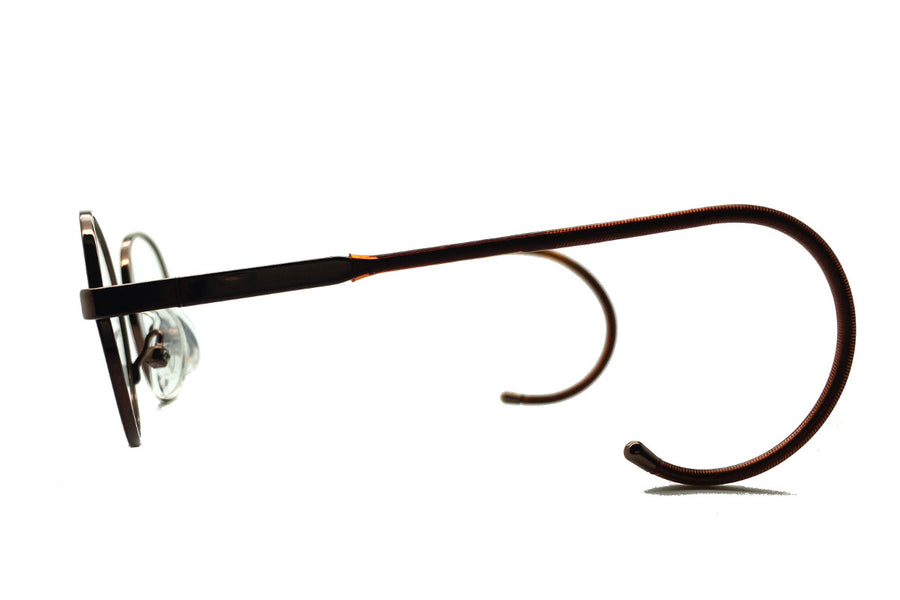 Alex children's glasses frames by Mr Foureyes in bronze, side shot