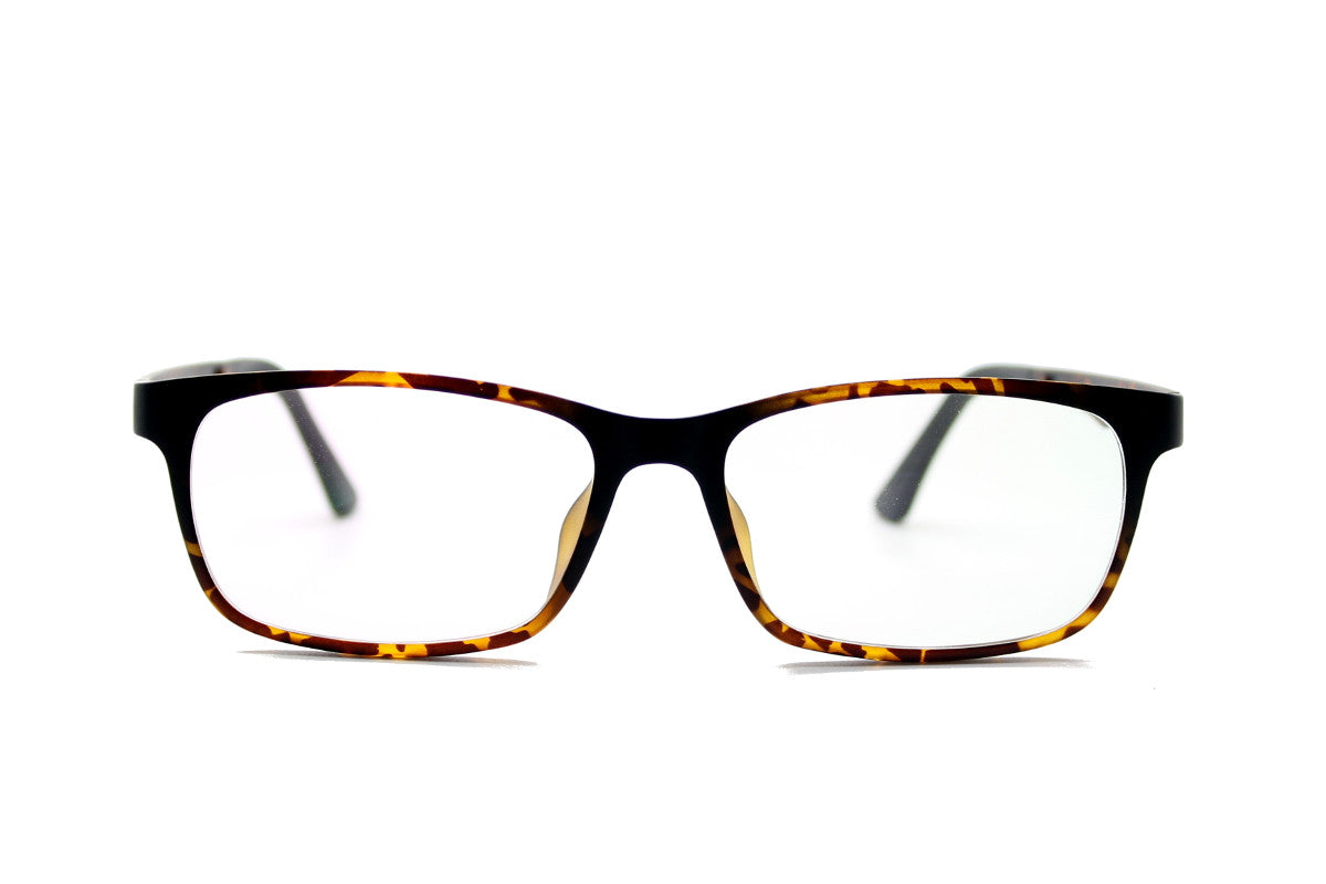 748a15365f38 ... Ashley clip-on prescription sunglasses by Mr Foureyes front shot  showing optical frame in tortoiseshell ...