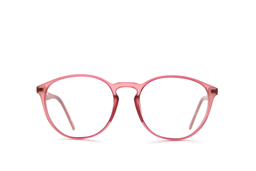 Braxton colourful round acetate glasses frames by Mr Foureyes, colour grape, front shot