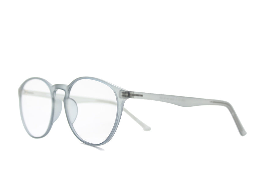 Braxton colourful round acetate glasses frames by Mr Foureyes, colour grey, angle shot