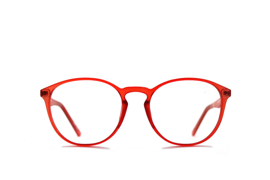 Braxton colourful round acetate glasses frames by Mr Foureyes, colour orange, front shot