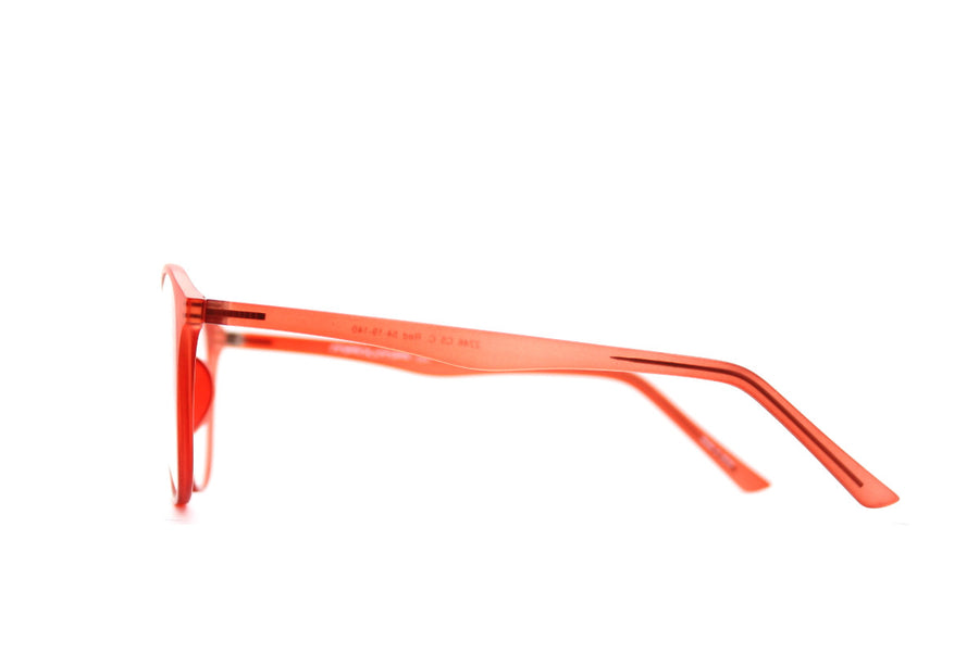 Braxton colourful round acetate glasses frames by Mr Foureyes, colour orange, side shot