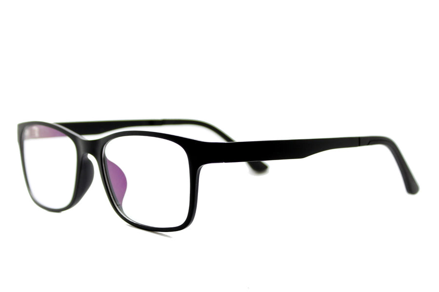 Brett clip-on prescription sunglasses by Mr Foureyes angle shot