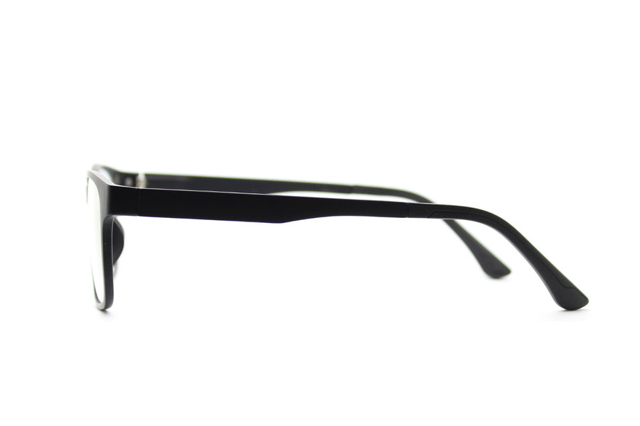 Brett clip-on prescription sunglasses by Mr Foureyes side shot