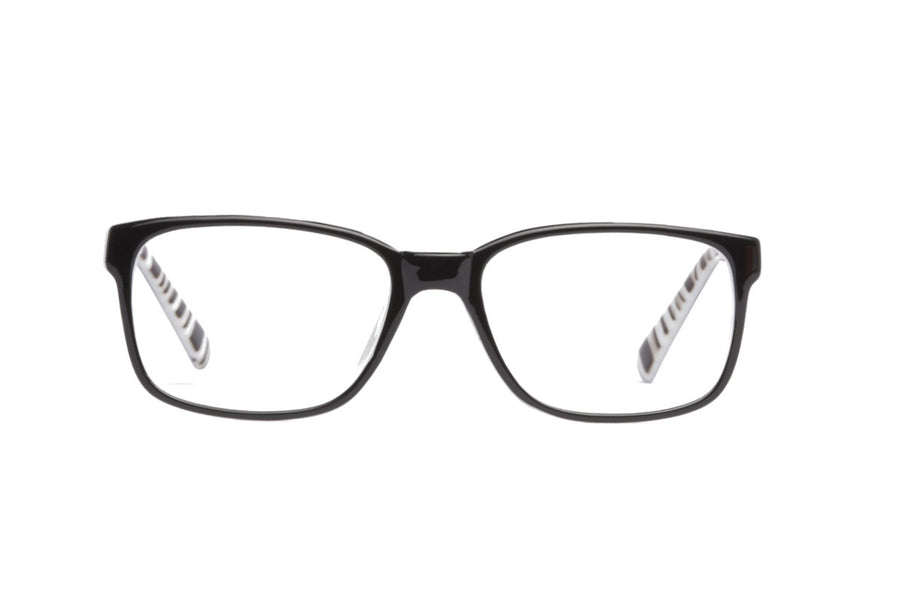Cody glasses frames in black & white | Mr Foureyes prescription glasses online