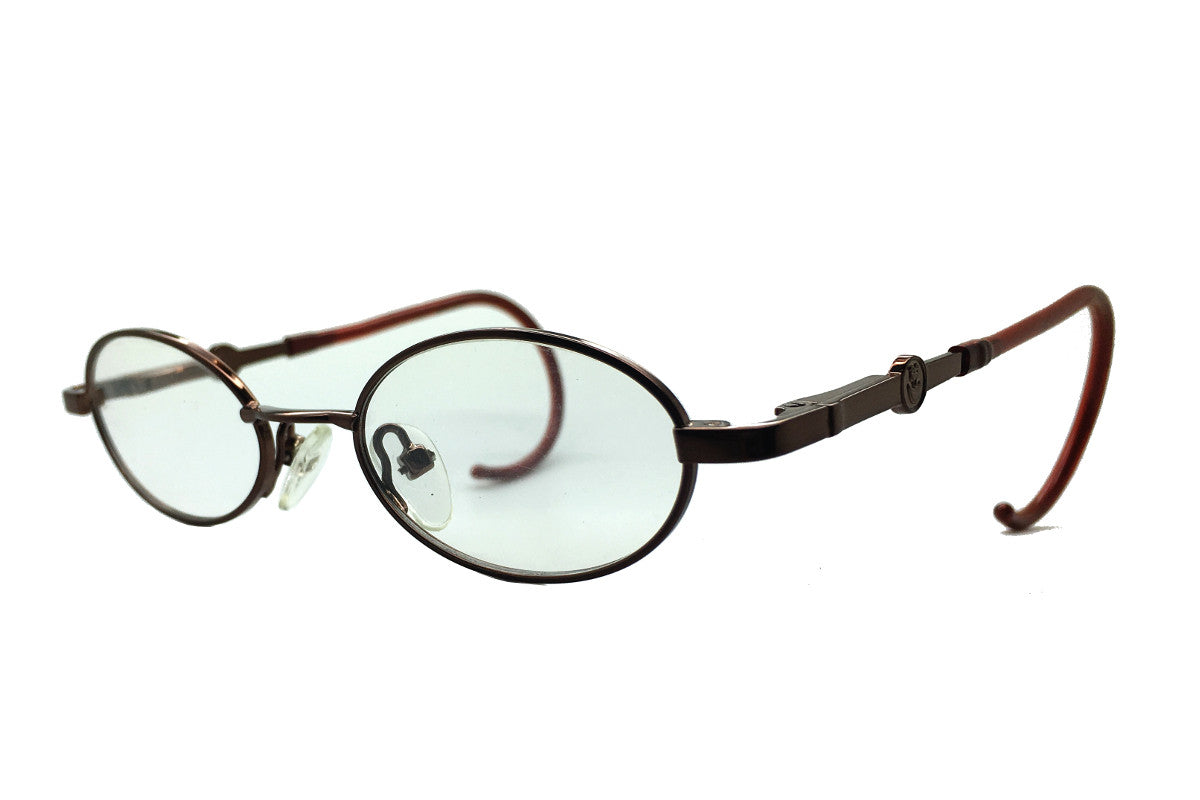 c183b59f5851 ... Carter children's glasses frames by MrFoureyes in bronze metal, angle  shot ...