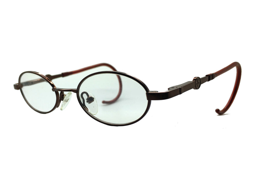 Carter children's glasses frames by MrFoureyes in bronze metal, angle shot