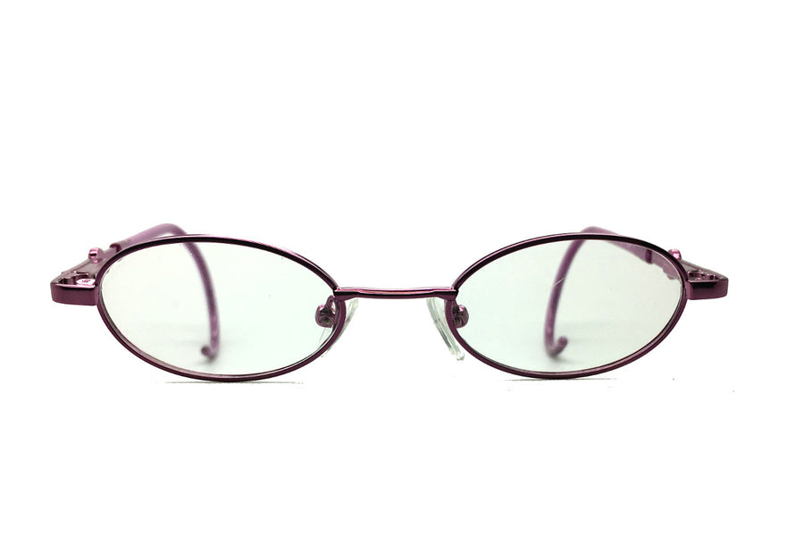 Carter children's glasses frames by MrFoureyes in purple metal, front shot