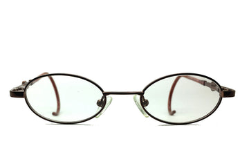 Carter children's glasses frames by MrFoureyes in bronze metal, front shot
