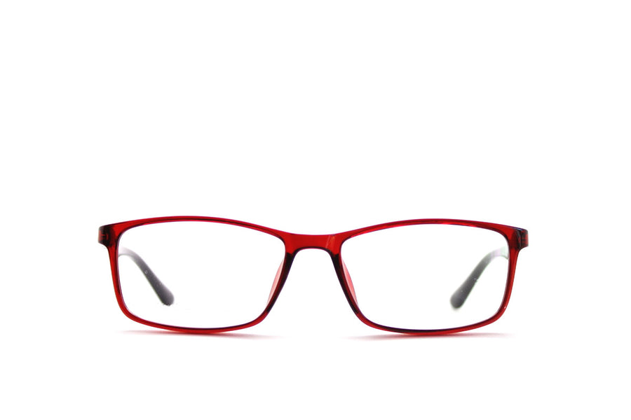 Charlie colourful red acetate glasses frames by Mr Foureyes, front shot