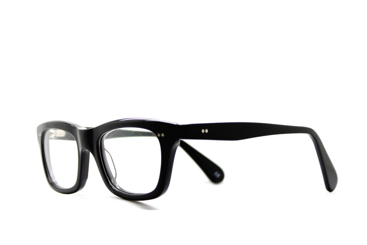 8a98370cc69 ... Solid black geek chic acetate glasses frames by Mr Foureyes