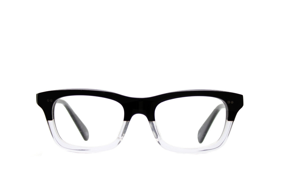 d533399b2e3 ... Bold black and clear geek chic acetate glasses frames by Mr Foureyes