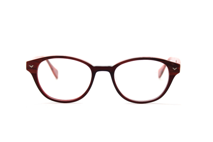 Beautiful acetate glasses frames by Mr Foureyes in peach tones (Corey style), front shot
