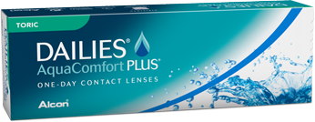 DAILIES® AquaComfort Plus Toric for astigmatism (daily disposable contact lenses) | Mr Foureyes
