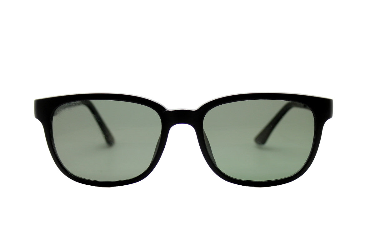 6fe5082bc2f4 ... Darcy clip-on prescription sunglasses by Mr Foureyes front shot with  clip-ons ...