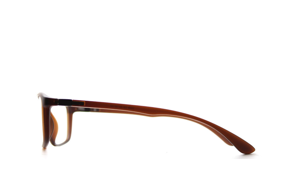 Acetate glasses frames in toffee colour by Mr Foureyes (Drew style), side shot