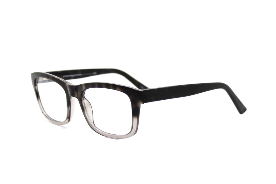 Smoky tortoiseshell acetate frames by Mr Foureyes (style 'Jack', angle shot)