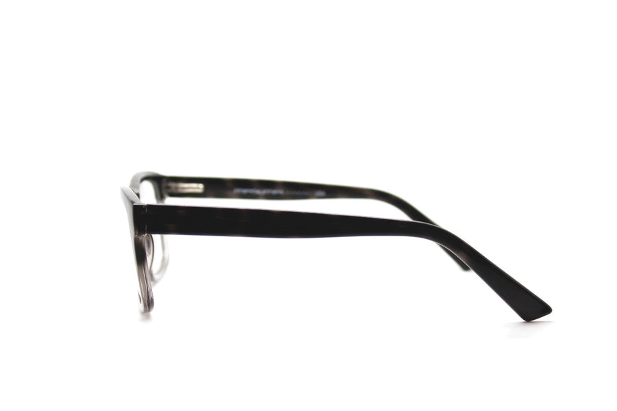 Smoky tortoiseshell acetate frames by Mr Foureyes (style 'Jack', side shot)